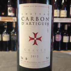 Découvrez le Chateau Carbon d'Artigues Graves rouge dans la cave a vins de Chez Le Pepere Bordeaux